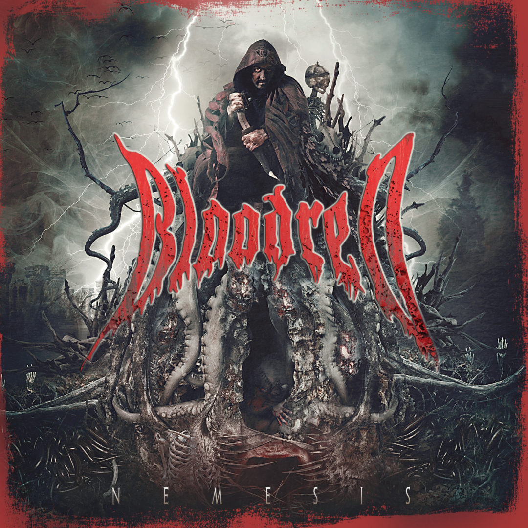 """The cover for the BLOODRED album """"NEMESIS"""""""